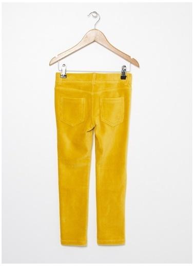 Benetton Benetton Hardal Sarısı Kadife Kız Çocuk Pantolon Hardal